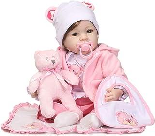 "Reborn Baby Doll, 100% Handmade Full Soft Silicone 22"" /55cm Lifelike Newborn Doll for Children Xmas Gift-RB145"