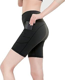 Mallas Cortas Mujer, Pantalon Corto de Yoga para Correr, Hacer Deporte, Yoga, Caminar, Fitness, Ciclismo.