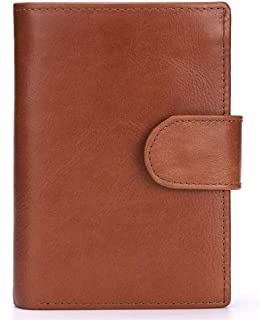 Bag for Men حقيقي محافظ جلد البقر للرجال RFID حظر طبقة جلد البقر المحفظة محفظة thrifold رجل بارد Durable Bag (Color : Brow...