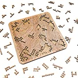 """Mind Bending Wooden Jigsaw Puzzle   Difficult Puzzles for Adults   200 Pieces   11.3"""" x 11.3"""""""