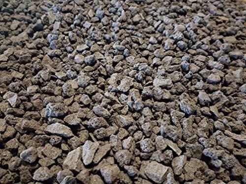 Der Naturstein Garten 12,5 kg schwarzer Lava Mulch 8-16 mm - Pflanzgranulat Schneckenschutz Lavastein Lavamulch Aquarium Dachbegrünung Lavagranulat - Lieferung KOSTENLOS