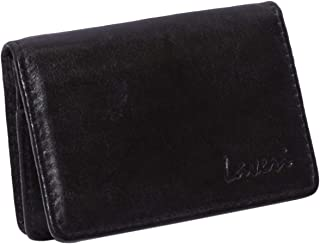 Laveri Genuine Leather Credit Card Holder Wallet Business and Credit Card Holder for Unisex - Leather, Black