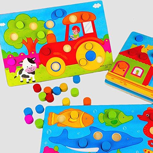 Bazaar Holz, Pilz, Clou, Puzzle, Kinder, Cartoon, Jigsaw, Kinder, bunt, Früh, lehrreich, Spielzeug, Brett