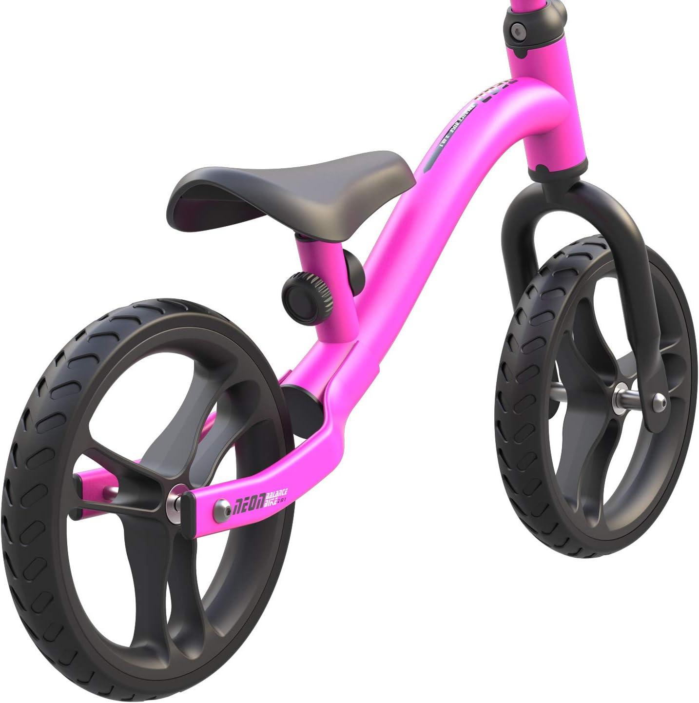 Yvolution Neon 2-in-1 Balance Bike Ages 2-4 No-Pedal 9 Balance Bike
