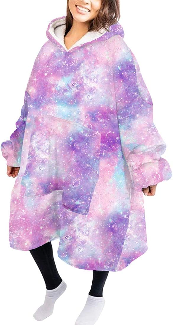 Original Oversized Sherpa Wearable Blanket Unisex Fleece Lounge Pullover One Size Fits All Hoodie Blanket Sweatshirt Avocado