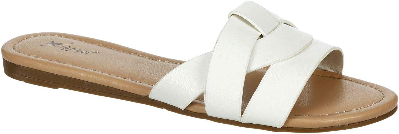 XAPPEAL Women's Maddy - Casual Comfort Slip On Flat Slide Sandal