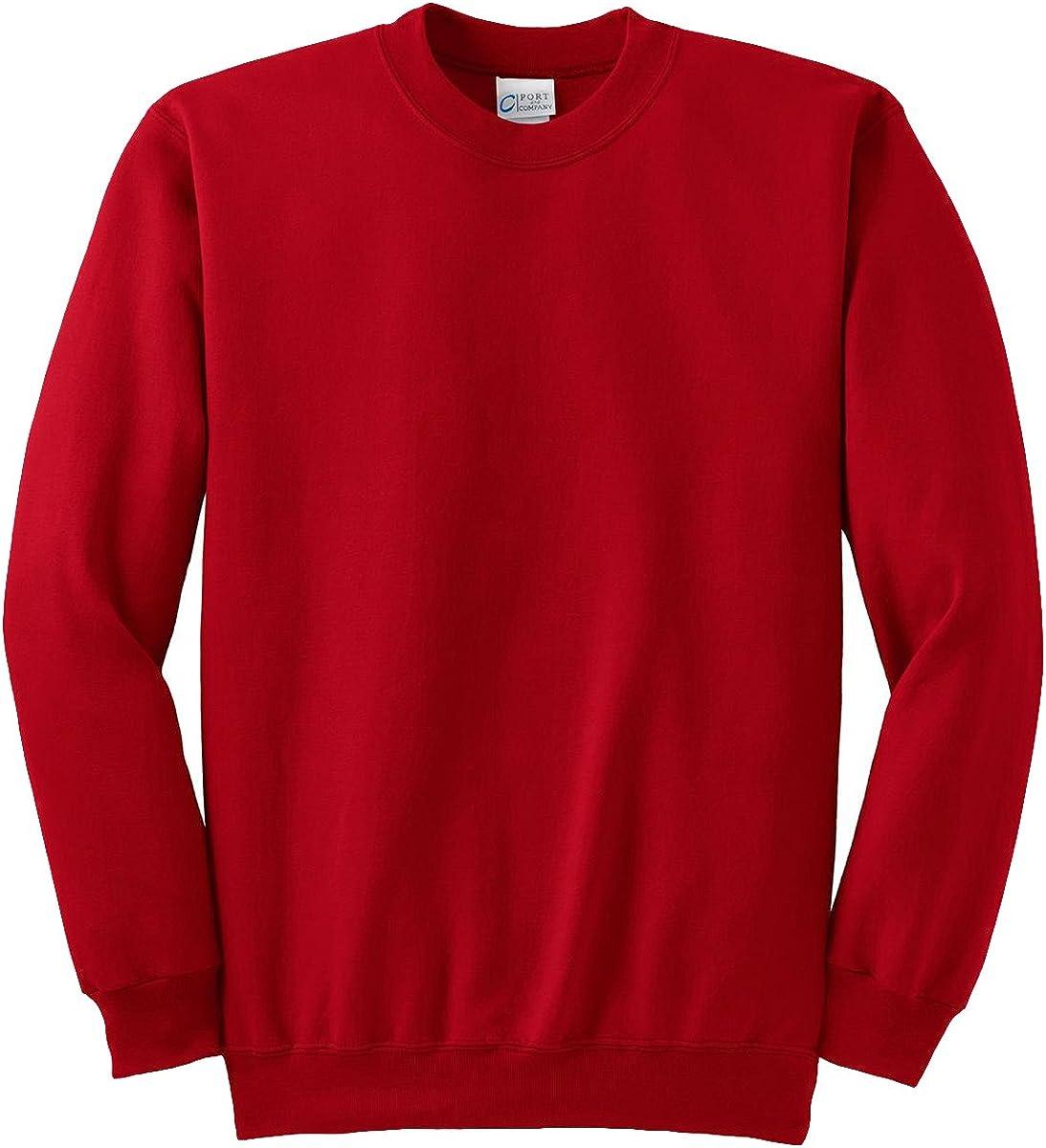 Port & Company Tall Ultimate Crewneck Sweatshirt>4XLT Red PC90T