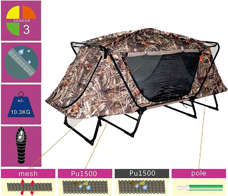 Campingzelt Off-Ground Jagd Multifunktionsstuhl Schwer entflammbar und regensicher 600D Oxford Tuch für Trekking, Camping, Outdoor, Festival
