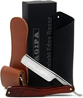 LAGIPA Straight Razor Kit for Men with Strop & Case, Shave Ready Straight Edge Razor, Barber Straight Razor Knife, Classic...