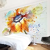 Apalis Vliestapete Blumentapete Painted Sunflower Fototapete Breit | Vlies Tapete Wandtapete Wandbild Foto 3D Fototapete für Schlafzimmer Wohnzimmer Küche | gelb, 94993