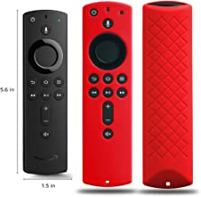 Covers for All-New Alexa Voice Remote for Fire TV Stick 4K, Fire TV Stick (2nd Gen), Fire TV (3rd Gen) Shockproof Protective Silicone Case - Red