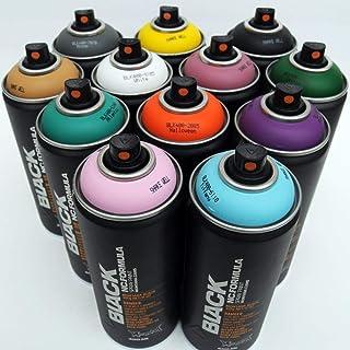 Montana - Pintura en aerosol (400 ml), color negro