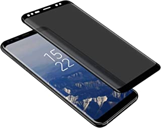 Galaxy S8/S9 Privacy Screen Protector, LETANG Tempered Glass Anti Glare/Spy Anti-Scratch No Bubble 9H Hardness 3D Touch Compatible with Samsung Galaxy S8/S9 (Black)
