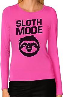 Tstars Women's - Sloth Mode Long Sleeve T-Shirt