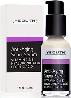 YEOUTH Súper suero antienvejecimiento ácido ferúlico vitamina C vitamina E - 1oz