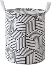 Large waterproof collapsible canvas basket barrel, with handles, can be used as storage boxes, children's toys storage, ho...