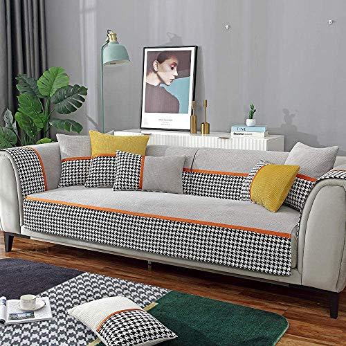 Sofa-überwurf Sesselschoner couchdecke Sofa Garnituren,rutschfeste Couch Schonbezug für Ledersofa,Moderne Büro 1/2/3/4 Sitzer Sofa Schonbezug,Plüsch weiche Möbelschutzhüllen-hellgrau_70 * 150 c