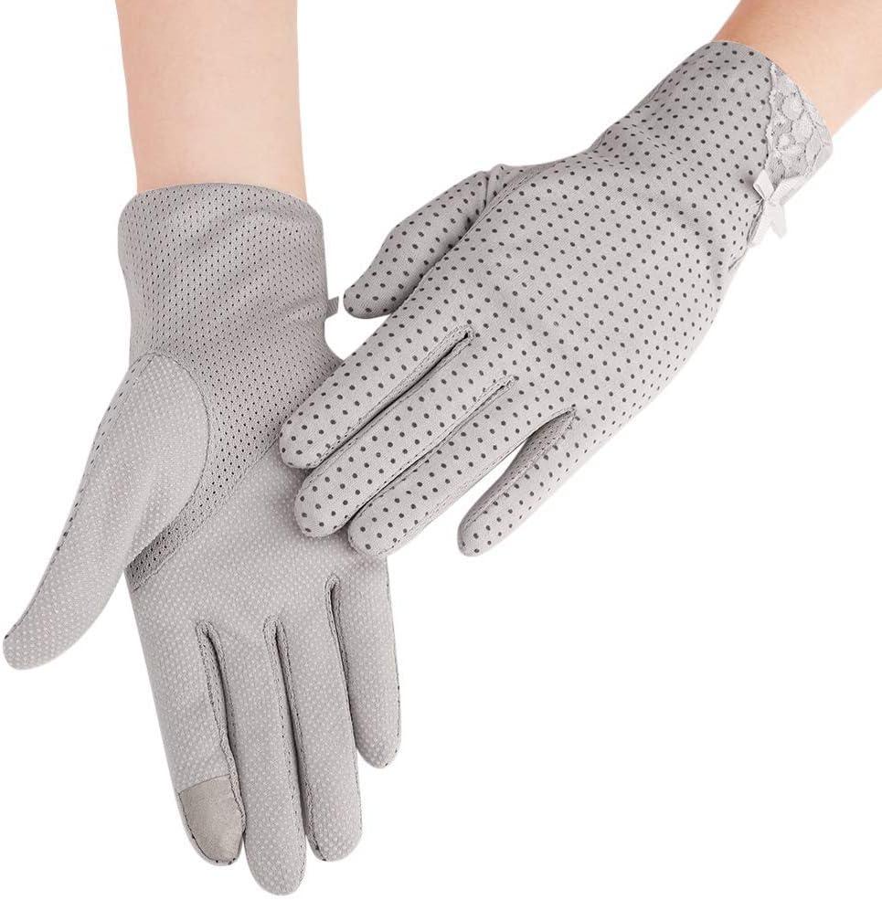 Women Full Finger Touchscreen Driving Cycling Mesh Gloves Regular store Reservation Cotton