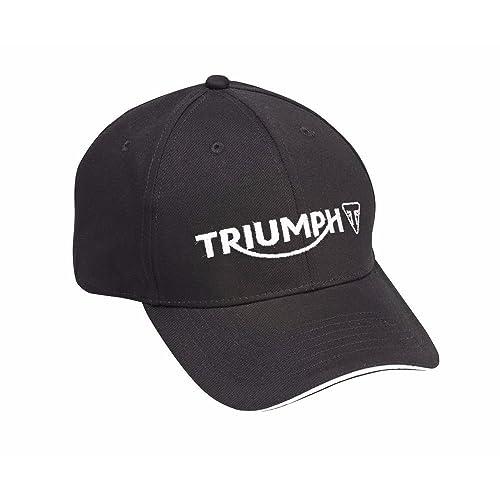 3aeb2a667a647 Triumph Motorcycles Logo Cap Hat Black MCAS15308