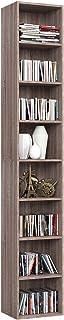 Homfa Librería Estantería de Pared 8 Cubos Estantes Ajustables Estantería Alta del Suelo para Libros CDs 180cm*29.5 * 23.5...