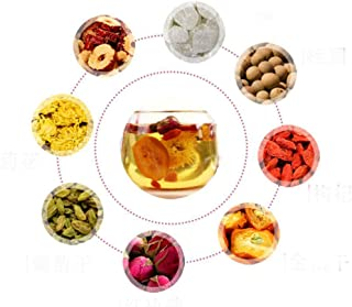 OuYang Hengzhi Natural and Health Flowers Tea Combination of Rose, Red Dates, Goji Berry, Kumquat.. Mei Gui Ba Bao Cha 玫瑰八宝茶 20 Small Bags
