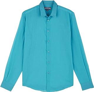 VILEBREQUIN Camisa en Gasa de algodón de Color Liso Unisex - Rosa - XXL