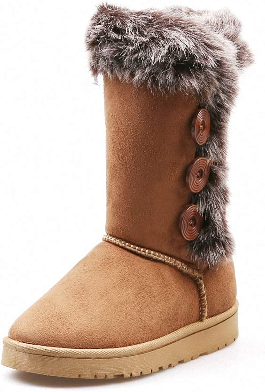 Kyle Walsh Pa Women Snow Boots Thick Faux Fur Winter Warm Mid-Calf Female Casual Footwear Comfortable Flats shoes