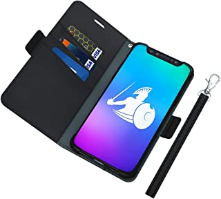 DefenderShield Compatible iPhone 8 Plus/iPhone 7 Plus EMF Radiation Case - Detachable Magnetic Anti Radiation Shield & RFID Blocker Wallet Case w/Wrist Strap - Cell Phone Radiation Protection