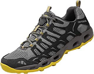 Dabbqis Hiking Shoes for Men Trail Running Sneakers Lightweight Athletic Trekking Boots Breathable Water Shoes