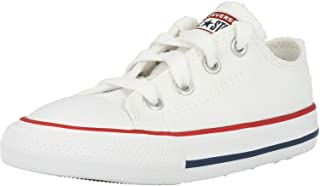 Unisex-Child Chuck Taylor All Star Low Top Sneaker, optical white, 7 M US Toddler