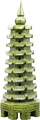 OHAYA Jade Wenchang Tower Chedi Stupa Pagoda Statue Buddhism Temple Decoration Handicraft