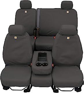 Covercraft Carhartt Custom SeatSaver | SSC3445CAGY | 1st Row 40/20/40 Bench Seat | Fits 2009-2014 Dodge Ram 1500/2500/3500 Truck, Gravel