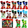 Camlinbo 2020 Novelty 12 Pair Unisex Christmas Socks Adult Kids Women Men Winter Funny Sock Xmas Size 9-11