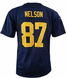 Jordy Nelson Green Bay Packers NFL Navy Game Team Jersey for Youth