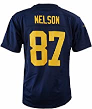 Nike Jordy Nelson Green Bay Packers NFL Navy Game Team Jersey for Youth