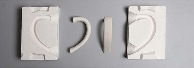 WellieSTR 1 Set Mini 3D Al sold out. Plaster Ceramic Tea It is very popular Pot Cup Handle Molds
