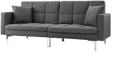Amazon.com: Serta SCBOCS3U4CC Boca Sofa, Charcoal Grey ...