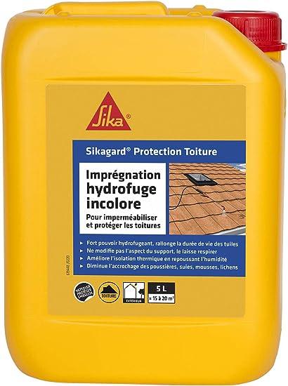 Sikagard Protection Toiture Impermeabilisant Hydrofuge Incolore Pour Toitures Protection Longue Duree 5l Environ 20m Amazon Fr Bricolage