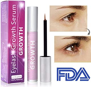 Vanelc Eyelash Growth Serum, Natural Eyebrow Lash Serum,Eyelash Growth Irritation Free Formula for Longer Fuller Thicker Rapid Lashes 5ML