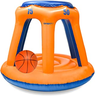 Chnaivy Pool Basketball Hoop Indoor Outdoor Swimming Basketball Hoop Set Best Water Sports Competitive Water Play with Two Ball Included for Kids and Adults
