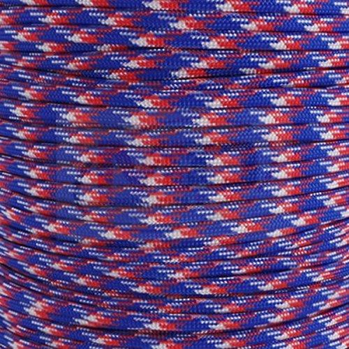 MD FlashLights Etc Ltd Camouflage Rouge, Blanc et Bleu Authentique fabriqué aux États-Unis Type LLL 550 Paracord 100% Nylon