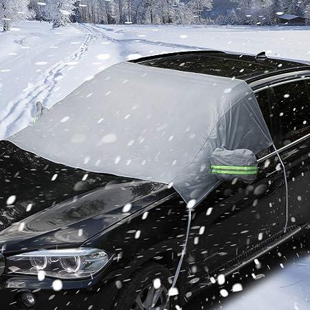 Auto Abdeckung Scheibenschutz Frostabdeckung Windschutzscheiben Winterschutz Scheibenabdeckung Winterabdeckung Frontscheibe Eisschutz Schneeschutz Scheibenfrostschutz Gegen Schnee Eis Frost Auto