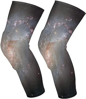 Knee Sleeve Stellar Full Leg Brace Compression Long Sleeves Pads Socks for Meniscus Tear, Arthritis, Running, Workout, Basketball, Sports, Men and Women 1 Pair