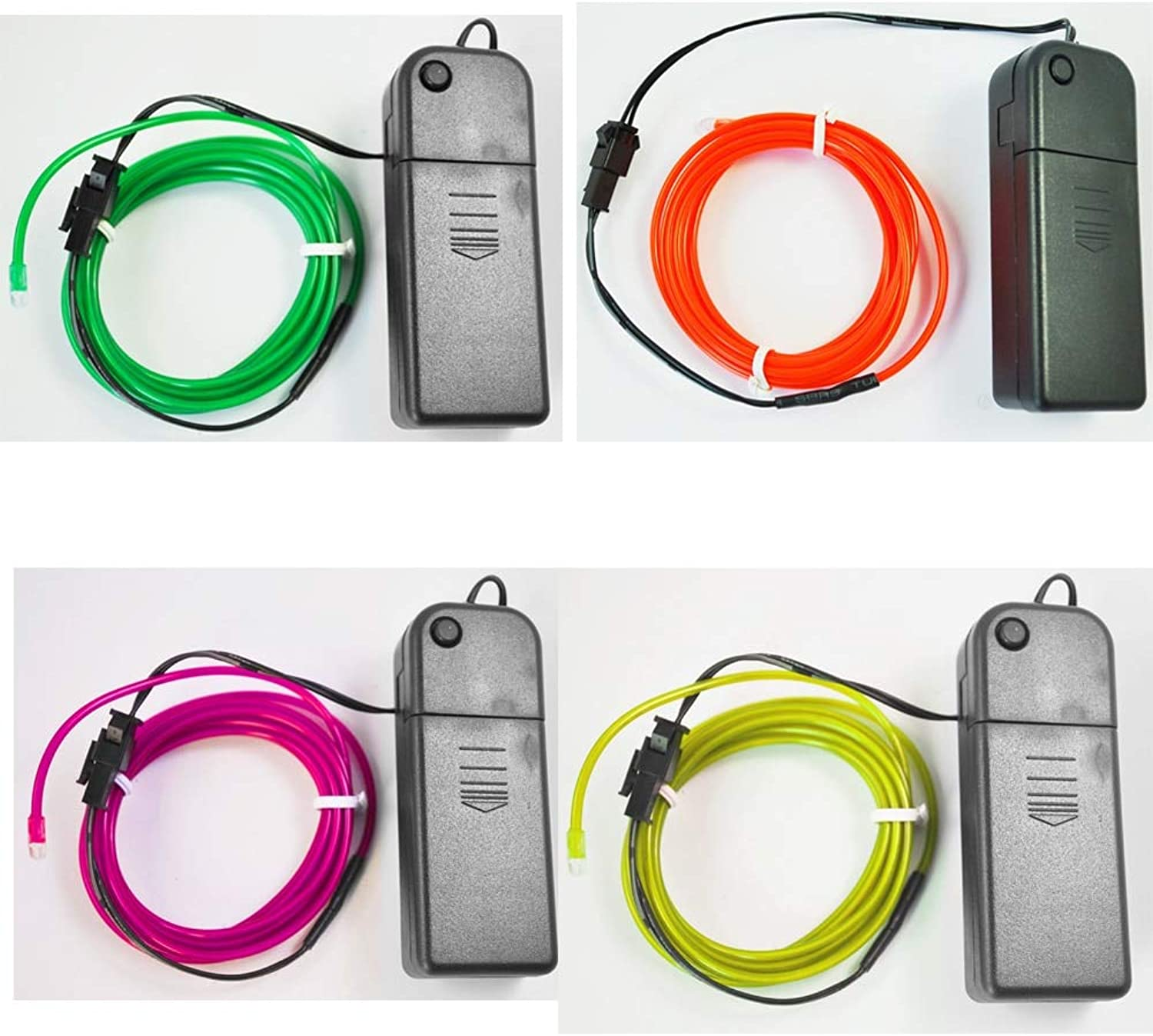 CALAPSTORE  Neon Light Glow EL Wire Led Rope Tube Car Dance Party Bar Decoration