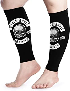 Calf Compression Sleeves Black Label Society Classic Skull Logo Leg Support Socks for Women Men 1 Pair
