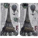 TienJueShi Eiffelturm Flip Book Stand Brieftasche Leder