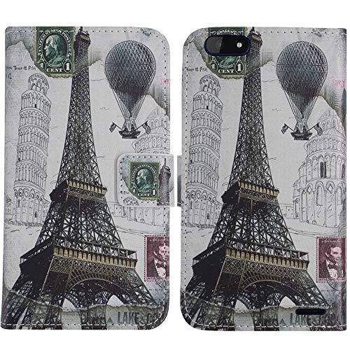 TienJueShi Eiffelturm Flip Book Stand Brieftasche Leder Tasche Schütz Hülle Handy Handy Hülle Für Archos Core 57S 5.72 inch Abdeckung Fall Wallet Cover Etüi