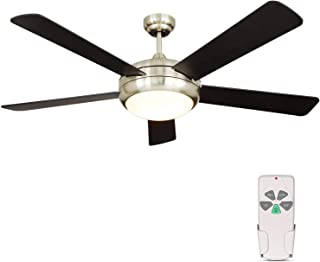 52 Inch Indoor Brushed Nickel Ceiling Fan with Dimmable...