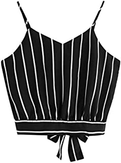 OVERMAL Big Girls' Crop Cami Top Girls Summer Basic Sexy Strappy Sleeveless Tops