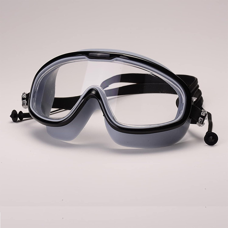 LANTING Gafas de natación,Antivaho gafas,Premium cómodo Gafas de natación Tapones para los oídos adjunta, Anti Niebla Protección UV Lentes,para Hombres, Mujeres, Adultos y Adolescentes.